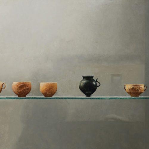 Barbotinas I · Óleo/Tabla · 95,5 x 50 cm