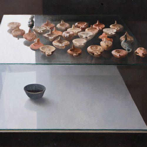Lámparas · Óleo/Tabla · 80 x 64 cm
