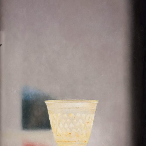 Vaso amarillo · Óleo/Tabla · 37 x 27 cm