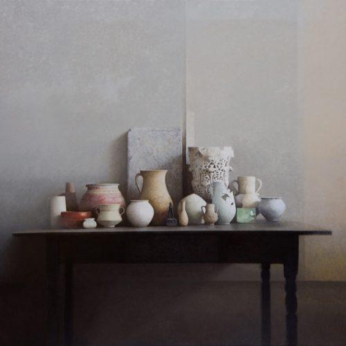 Mesa negra · Óleo/Tela · 114 x 100 cm