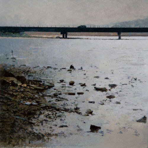 Extrarradios II · Óleo/Tabla · 40 x 40 cm