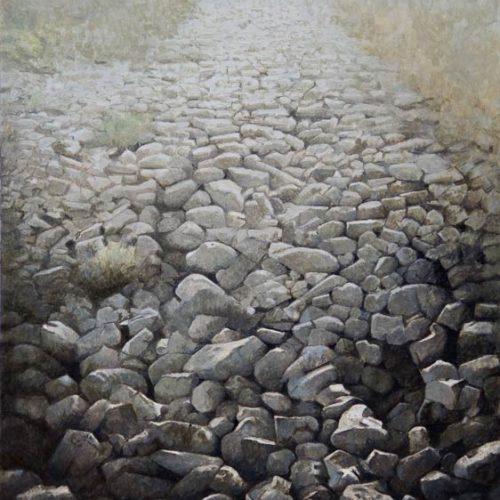 Piedras · Óleo/Tabla · 40 x 40 cm