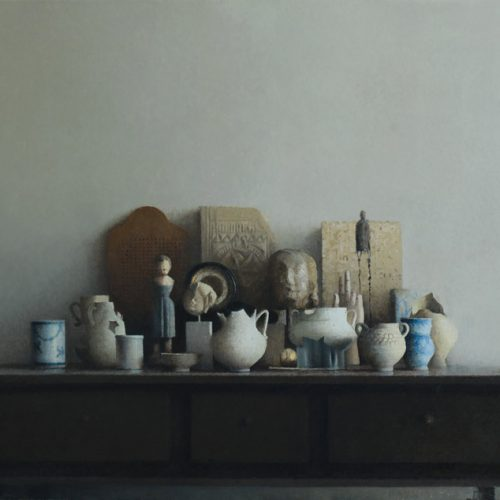 Esculturas · Óleo/Tela · 146 x 92 cm