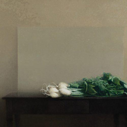 Mesa negra II · Óleo/Lienzo · 130 x 80 cm