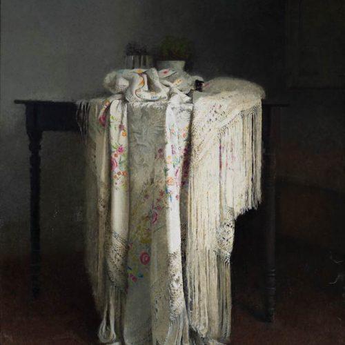 Mantón · Óleo/Lienzo · 146 x 130 cm