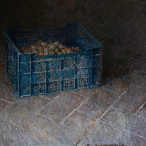 Caja azul · Óleo/Tabla · 96 x 65 cm