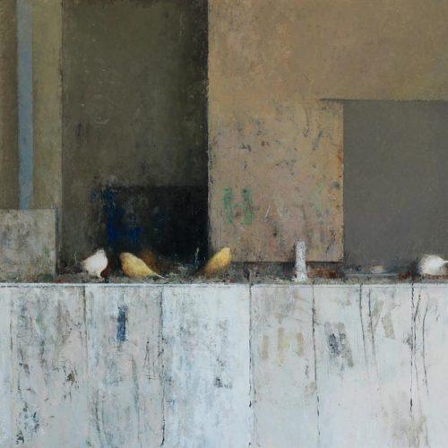 Pájaros I · Óleo/Tabla · 96 x 65 cm