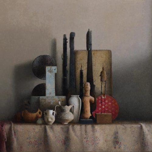 Instrumentos · Óleo/Lienzo · 130 x 80 cm