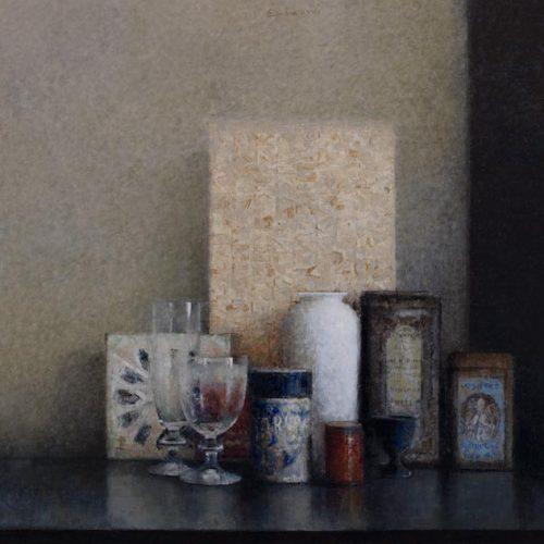 Azulejo · Óleo/Tabla · 73 x 46 cm