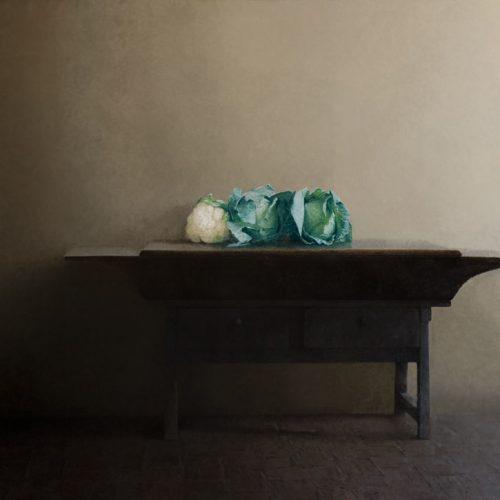 La mesa · Óleo/Lienzo · 145 x 195 cm