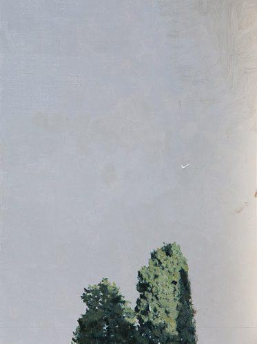 Cipreses · Óleo/Tabla · 54,4 x 20,5 cm